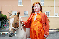 10/8/2009. Puck Fair. Mary Cash aged 6 from Wexford is pictured at the Puck Fair Horse Fair Killorglin Co Kerry. Picture James Horan/Photocall Ireland