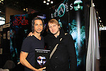 """General Hospital Michael Easton poses with Christopher Shy (cowrote book with Christopher) """"Soul Stealer Collector's Edition"""" on October 13, 2012 at the Javits Center, New York City, New York. (Photo by Sue Coflin/Max Photos)"""