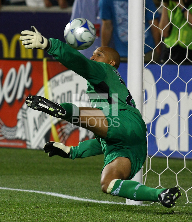 Tim Howard in the MLS All Stars v Everton 4-3 Everton win at Rio Tinto Stadium in Sandy, Utah on July 29, 2009
