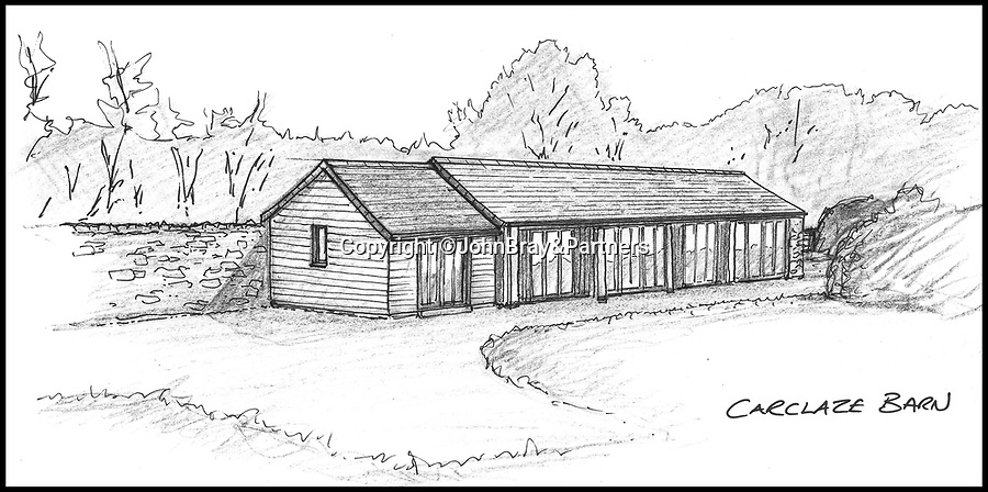 BNPS.co.uk (01202 558833)<br /> Pic:   JohnBray&Partners/BNPS<br /> <br /> Right Mooooove?.....<br /> <br /> Artist's impession of the completed barn.<br /> <br /> A dilapidated stone cow shed that has no front or side walls has gone on the market for a staggering £150,000.<br /> <br /> That is because the ruined barn has planning permission to turn it into a two bedroom cottage in a desirable part of Cornwall.<br /> <br /> The ramshackle outbuilding is on the edge of a farm in the village of Chapel Amble which is just five miles from the trendy resort of Rock.