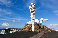 Spain, Canary Island, Lanzarote, near Mozaga: monument Al Campesino by Cesar Manrique, La Casa Museo del Campesino (Museum House of the farmer) - Cubist monument named El Monumento Fecundidad al Campesino Lanzaroteno (the Fertility Monument to the Lanzarote peasant) | Spanien, Kanarische Inseln, Lanzarote, bei Mozaga: Monumento Al Campesino von Cesar Manrique, das Denkmal besteht aus Wassertanks aufgegebener Fischerboote und befindet sich auf dem geografischen Mittelpunkt Lanzarotes, zur Ehrung der Bauern Lanzarotes