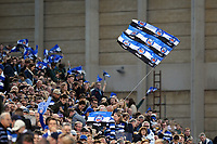 Bath Rugby supporters in the crowd celebrate a try. European Rugby Champions Cup match, between Bath Rugby and Benetton Rugby on October 14, 2017 at the Recreation Ground in Bath, England. Photo by: Patrick Khachfe / Onside Images