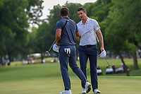 Justin Rose (GBR) is congratulated by Brooks Koepka (USA) following round 4 of the Fort Worth Invitational, The Colonial, at Fort Worth, Texas, USA. 5/27/2018.<br /> Picture: Golffile | Ken Murray<br /> <br /> All photo usage must carry mandatory copyright credit (© Golffile | Ken Murray)
