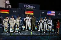 #91 PORSCHE GT TEAM (DEU) PORSCHE 911 RSR GTE PRO RICHARD LIETZ (AUT) GIANMARIA BRUNI (ITA) WINNER LMGTE PRO<br /> #81 BMW TEAM MTEK (DEU) BMW M8 GTE GTE PRO MARTIN TOMCZYK (DEU) NICKY CATSBURG (NLD) ALEXANDER SIMS (GBR) SECOND LMGTE PRO<br />  #67 FORD CHIP GANASSI TEAM UK (USA) FORD GT GTE PRO ANDY PRIAULX (GBR) HARRY TINCKNELL (GBR) JONATHAN BOMARITO (USA)THIRD LMGTE PRO