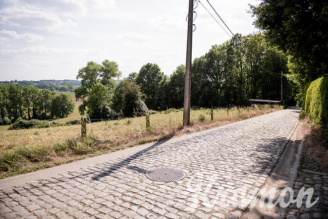 the Taaienberg cobbled climb in Maarkedal<br /> <br /> cycling hotspots & impressions in the Vlaamse Ardennen (Flemish Ardennes) along the 181km Spartacus (Chasing Cancellara) cycling route<br /> <br /> Cycling In Flanders <br /> Flanders Tourist Board<br /> <br /> ©kramon