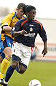 02/04/2005         Copyright Pic : James Stewart.File Name : jspa14_falkirk_v_st_johnstone.RUSSELL LATAPY MAKES HIS WAY THROUGH THE ST.JOHNSTONE DEFENCE.....Payments to :.James Stewart Photo Agency 19 Carronlea Drive, Falkirk. FK2 8DN      Vat Reg No. 607 6932 25.Office     : +44 (0)1324 570906     .Mobile   : +44 (0)7721 416997.Fax         : +44 (0)1324 570906.E-mail  :  jim@jspa.co.uk.If you require further information then contact Jim Stewart on any of the numbers above.........A