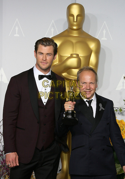 02 March 2014 - Hollywood, California - Chris Hemsworth, Glenn Freemantle. 86th Annual Academy Awards held at the Dolby Theatre at Hollywood &amp; Highland Center. <br /> CAP/ADM<br /> &copy;AdMedia/Capital Pictures