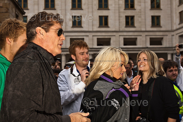 David Hasselhoff.<br /> <br /> London, 26/05/2011. Over one hundred expensive &quot;bolides&quot; gathered in Covent Garden to attend the start of the rally that, on a 3000 miles journey, will cross 10 different countries to end in Istanbul. Among the participants and some celebrities present is David Hasselhoff, who famously played Michael Knight in the 1980's TV series Knight Rider.