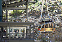 Palm Springs Aerial Tramway Car Docking at the Valley Station