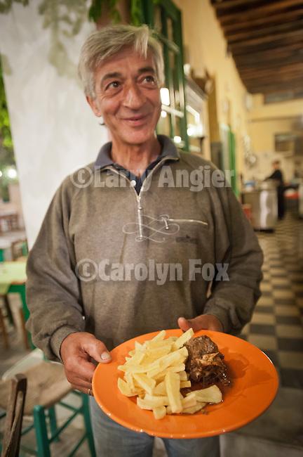 Dinner presentation at Chic Taverna in the Chora , Folegandros, Cyclades, Greece