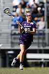 DURHAM, NC - FEBRUARY 18: Northwestern's Emily Stein. The Duke University Blue Devils hosted the Northwestern University Wildcats on February 18, 2018, at Koskinen Stadium in Durham, NC in women's college lacrosse match. Duke won the game 9-8.