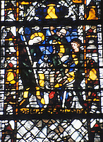 York: York Minster--detail, stained glass window, North Aisle. Photo '90.