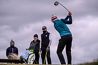 Alex Gleeson (Castle) during the 3rd round of matchplay at the 2018 West of Ireland, in Co Sligo Golf Club, Rosses Point, Sligo, Co Sligo, Ireland. 02/04/2018.<br /> Picture: Golffile | Fran Caffrey<br /> <br /> <br /> All photo usage must carry mandatory copyright credit (&copy; Golffile | Fran Caffrey)
