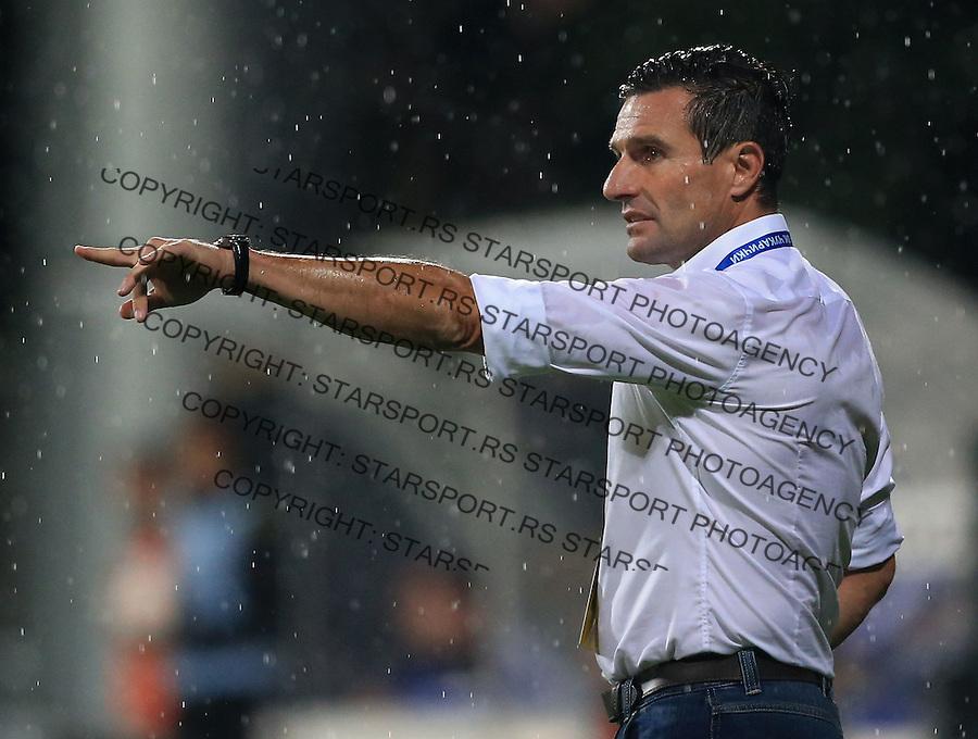 Fudbal Football Soccer<br /> UEFA Europa league-Second qualifying round, First leg<br /> Cukaricki v Grodig Austria<br /> Head coach Michael Baur<br /> Beograd, 07.17.2014.<br /> foto: Srdjan Stevanovic/Starsportphoto &copy;