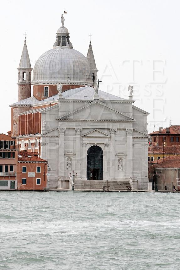 La Chiesa del Santissimo Redentore, sull'isola della Giudecca, Laguna di Venezia.<br /> The Church of the Most Holy Redeemer on the Giudecca island, Venice Lagoon.<br /> UPDATE IMAGES PRESS/Riccardo De Luca