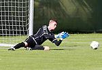 Nederland, Utrecht, 30 juni 2012.Eerste training van FC Utrecht .Robbin Ruiter, nieuwe keeper van FC Utrecht in actie met bal