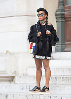 Janelle Monae attend Stella Mccartney Show at the  Paris Fashion Week 2016.<br /> October 5, 2015 Paris, France<br /> Picture: Kristina Afanasyeva