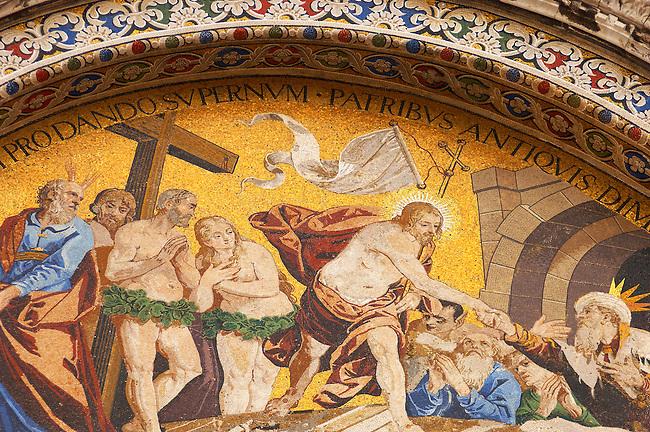 Resurection of Christ Mosaic- St Marks Basilica - Venice - Italy