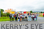 PROTEST: Animal lovers who held their protest outside Courtney Circus on Sunday.