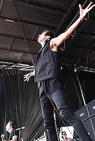 Of Mice and Men performs at the Vans Warped Tour in Atlanta, GA on July 26, 2012.
