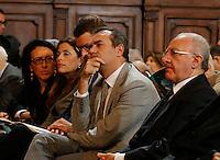 Valeria Valente , Assunta Tartaglione e il sindaco di Napoli  Luigi De Magistris durante la cerimonia di innagurazione anno giudiziario in Campania <br /> Salone dei Busti Castel Capuano Napoli