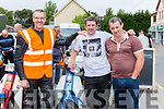 Alan Kelliher, Diarmuid Brosnan and Mossie Kelliher  at the Honda 50 run in Beaufort on Sunday