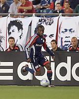 New England Revolution midfielder Sainey Nyassi (31) moves down the wing. The New England Revolution tied DC United, 2-2, in Gillette Stadium on May 29, 2008.