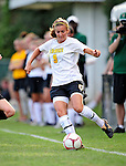 28 August 2009: University of Vermont Catamounts' midfielder Jess Herbst (9), a Freshman from Webster, NY, in action against the University of Montreal Carabins at Centennial Field in Burlington, Vermont. The Catamounts defeated the Carabins 3-2 in sudden death overtime. Mandatory Photo Credit: Ed Wolfstein Photo