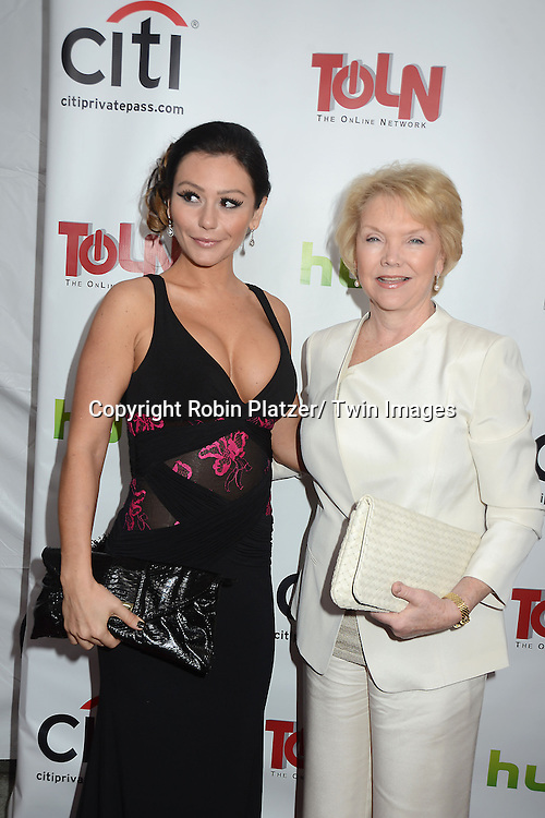 "Jennie JWOWW Farley and Erika Slezak attend the New York Premiere of ""All My Children"" and. ""One Life to Live "" on April 23, 2013 at NYU Skirball Theatre in New York City. Prospect Park is producing the shows and they will air on www.hulu.com starting on April 29, 2013."