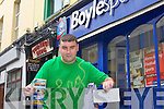 ROAD TO A MILLION: Joseph Wall, Cloghers who came second in Boyle Sports Road to a Million competition with his 10,000 euros cheque at Boyle Sports, Edward Street, Tralee on Friday.