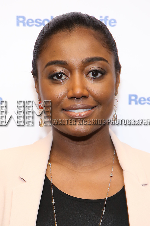 Patina Miller attends the 2017 Drama League Award Nominees Announcements at Sardi's on April 19, 2017 in New York City.
