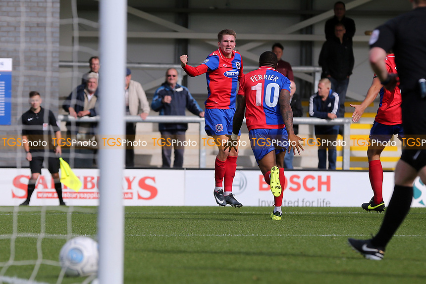 Sam Ling of Dagenham celebrates scoring the second goal during AFC Fylde vs Dagenham & Redbridge, Vanarama National League Football at Mill Farm on 19th August 2017