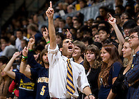 California spirit leader in action during the game between California and UC Irvine at Haas Pavilion in Berkeley, California on November 11th, 2011.  California defeated UC Irvine, 77-56.