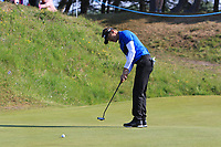 Raphael Jacquelin (FRA) on the 10th green during Round 3 of the Betfred British Masters 2019 at Hillside Golf Club, Southport, Lancashire, England. 11/05/19<br /> <br /> Picture: Thos Caffrey / Golffile<br /> <br /> All photos usage must carry mandatory copyright credit (&copy; Golffile | Thos Caffrey)
