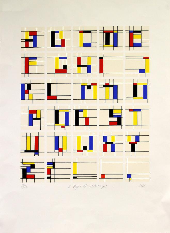 Type of Homage Alphabet Project, Caz Hilderbrand, 1982