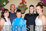 21st: Shane Brennan Dirha who celebrated his 21st with his family in The Kingdom bar, Listowel on saturday night l-r: Susan, Bob, Jack and Shane Brennan and Katie McElligott.