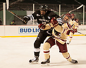 Conor MacPhee (PC - 29), Luke McInnis (BC - 3) - The Boston College Eagles defeated the Providence College Friars 3-1 (EN) on Sunday, January 8, 2017, at Fenway Park in Boston, Massachusetts.