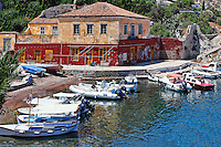 The small harbor of Kaminia in Hydra, Greece