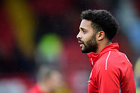 Lincoln City's Bruno Andrade during the pre-match warm-up<br /> <br /> Photographer Chris Vaughan/CameraSport<br /> <br /> The EFL Sky Bet League Two - Lincoln City v Crewe Alexandra - Saturday 6th October 2018 - Sincil Bank - Lincoln<br /> <br /> World Copyright &copy; 2018 CameraSport. All rights reserved. 43 Linden Ave. Countesthorpe. Leicester. England. LE8 5PG - Tel: +44 (0) 116 277 4147 - admin@camerasport.com - www.camerasport.com