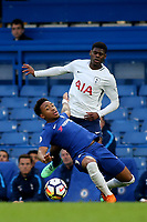 Juan Castillo of Chelsea slips over while in possession during Chelsea Under-23 vs Tottenham Hotspur Under-23, Premier League 2 Football at Stamford Bridge on 13th April 2018