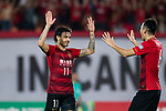 Guangzhou Forward Ricardo Goulart (L) celebrating his goal with his teammate Guangzhou Defender Feng Xiaoting (R) during the AFC Champions League 2017 Quarter-Finals match between Guangzhou Evergrande (CHN) vs Shanghai SIPG (CHN) at the Tianhe Stadium on 12 September 2017 in Guangzhou, China. Photo by Marcio Rodrigo Machado / Power Sport Images