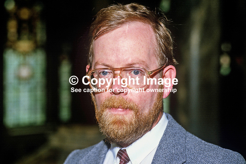 Gerard McGuigan, councillor, Provisional Sinn Fein, Belfast, N Ireland, 19850507GMG2.<br /> <br /> Copyright Image from Victor Patterson, 54 Dorchester Park, Belfast, UK, BT9 6RJ<br /> <br /> t1: +44 28 9066 1296<br /> t2: +44 28 9002 2446<br /> m: +44 7802 353836<br /> <br /> e1: victorpatterson@me.com<br /> e2: victorpatterson@gmail.com<br /> <br /> www.victorpatterson.com<br /> <br /> IMPORTANT: Please see my Terms and Conditions of Use at www.victorpatterson.com
