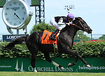 May23, 2015  Xtra Luck, ridden by Brian Hernandez Jr., wins the 78th running of the G3 Louisville Handicap.1-1/2 miles on the turf course. Owner Michele and Cliff Love, trainer Neil J. Howard. By Exchange Rate x Miu Miu (Kris S.) ©Mary M. Meek/ESW/CSM