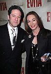 John Pizzarelli and Jessica Molaskey.attending the Broadway Opening Night Performance of 'EVITA' at the Marquis Theatre in New York City on 4/6/2012