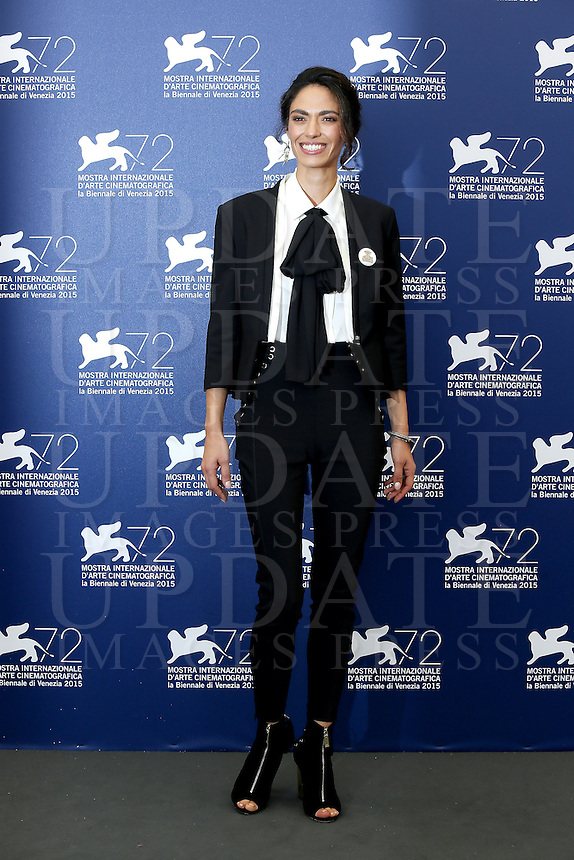 Roberta Mattei attends a photocall for the movie 'Don't Be Bad' during the 72nd Venice Film Festival at the Palazzo Del Cinema in Venice, Italy, September 7, 2015.<br /> UPDATE IMAGES PRESS/Stephen Richie
