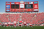 A general view of Camp Randall Stadium from the south endzone during the Wisconsin Badgers NCAA college football game against the Austin Peay Governors on September 25, 2010 at Camp Randall Stadium in Madison, Wisconsin. The Badgers beat the Governors 70-3. (Photo by David Stluka)