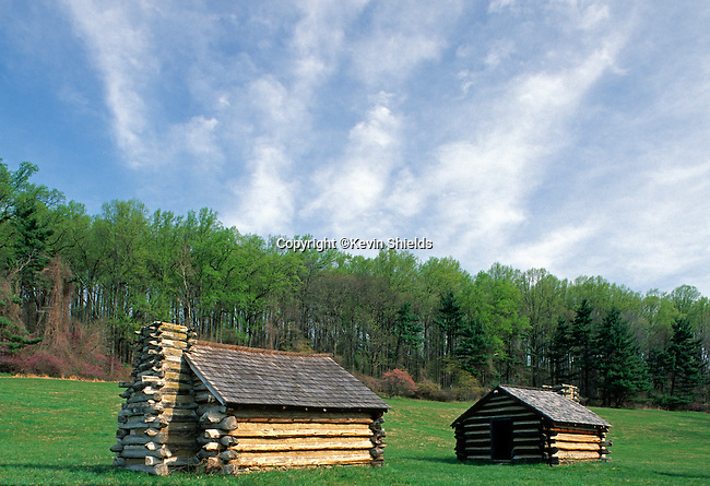 Solier's huts at Valley Forge National Historical Park, Pennsylvania, USA