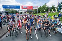 Picture by Allan McKenzie/SWpix.com - 16/07/17 - Cycling - HSBC UK British Cycling Grand Prix Series - Velo29 Altura Stockton Grand Prix - Stockton, England - Riders prepare to roll out.