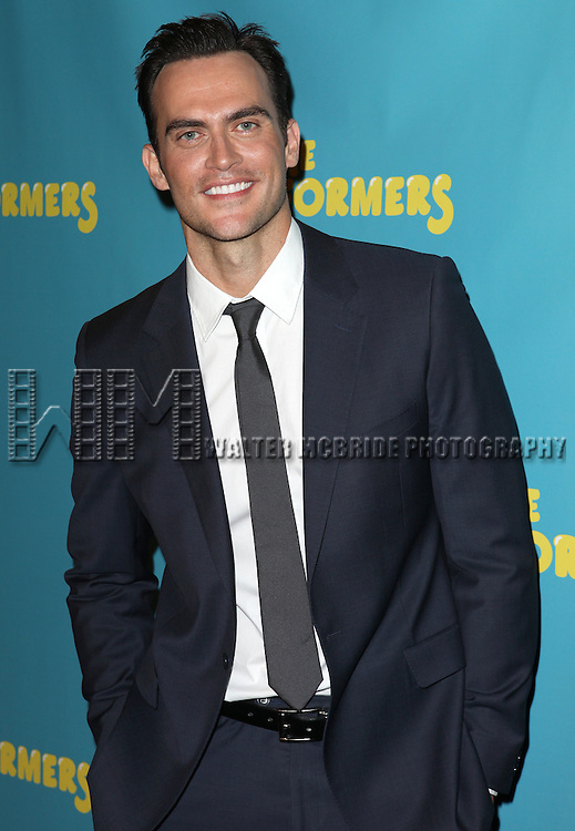 "Actor Cheyenne Jackson attends press event to introduce the cast and creators of the new Broadway play ""The Performers""at the Hard Rock Cafe on Tuesday, Sept. 25, 2012 in New York."