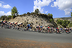The peloton descend from Gorga during Stage 2 of La Vuelta 2019 running 199.6km from Benidorm to Calpe, Spain. 25th August 2019.<br /> Picture: Eoin Clarke | Cyclefile<br /> <br /> All photos usage must carry mandatory copyright credit (© Cyclefile | Eoin Clarke)